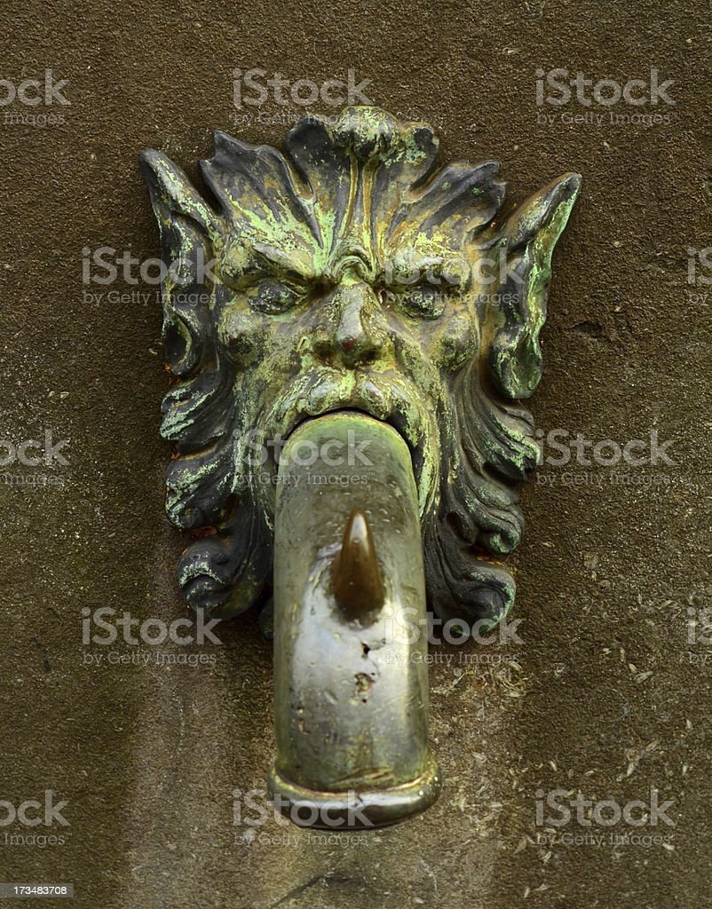 Lion Street Faucet royalty-free stock photo