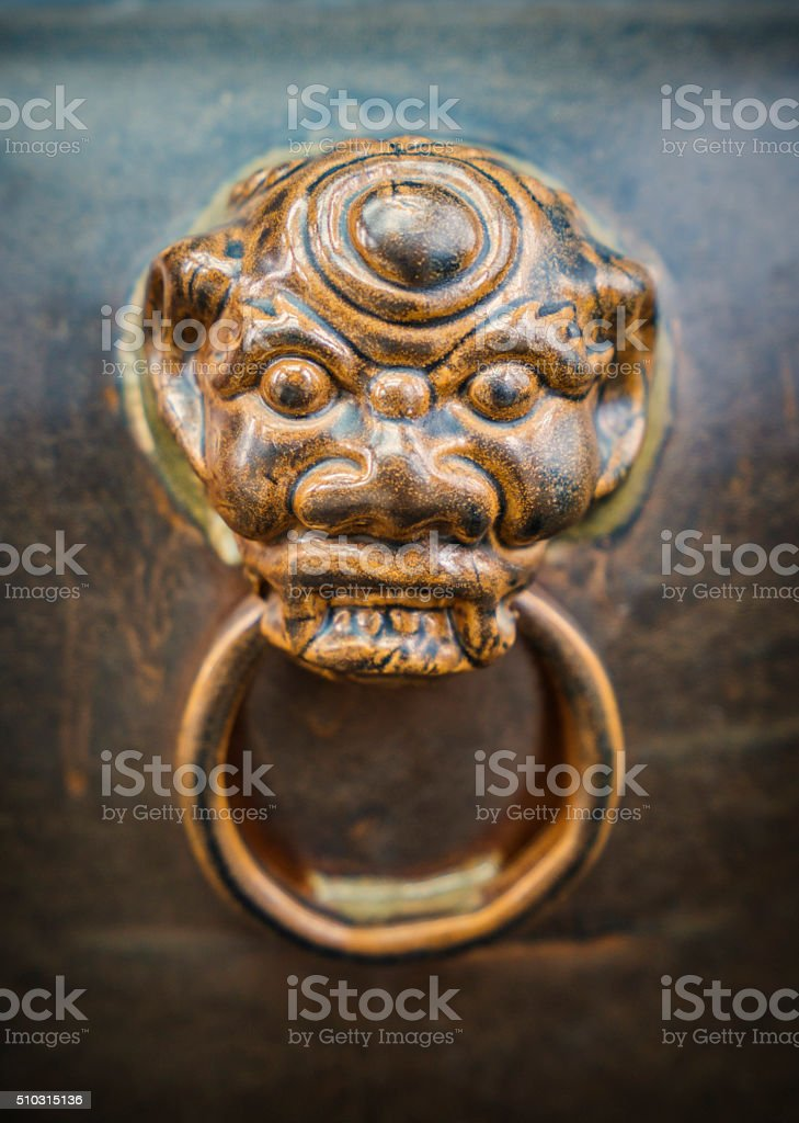 lion/dragon head stock photo