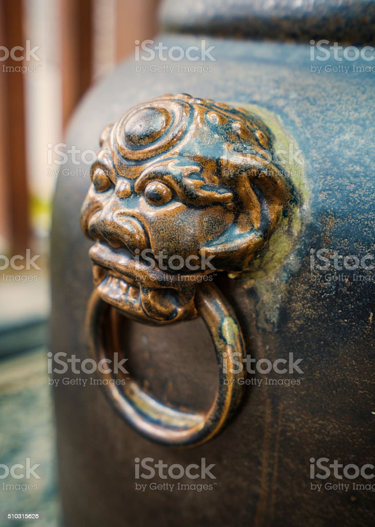 lion/dragon head stock photo