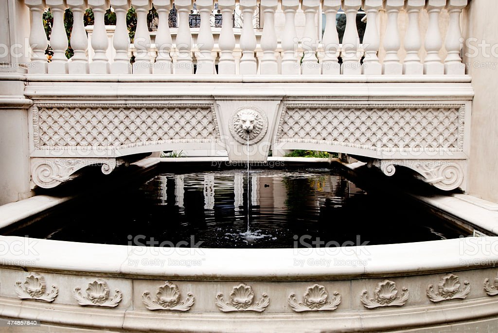 Lionhead Fountain and Pond stock photo