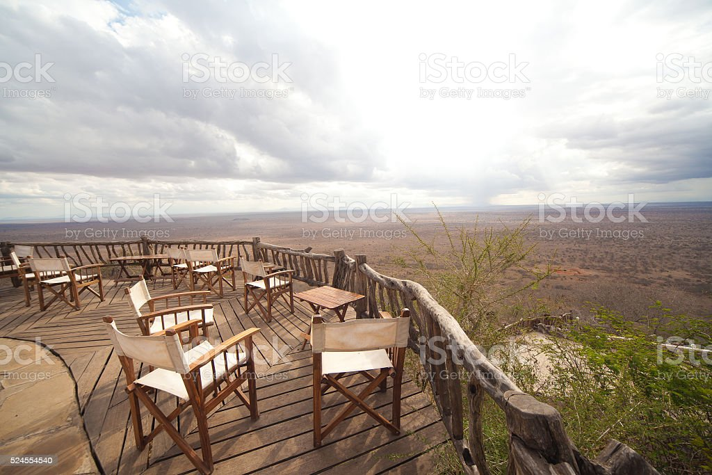 Lions Bluff Lodge View Lumo Conservancy Kenya stock photo