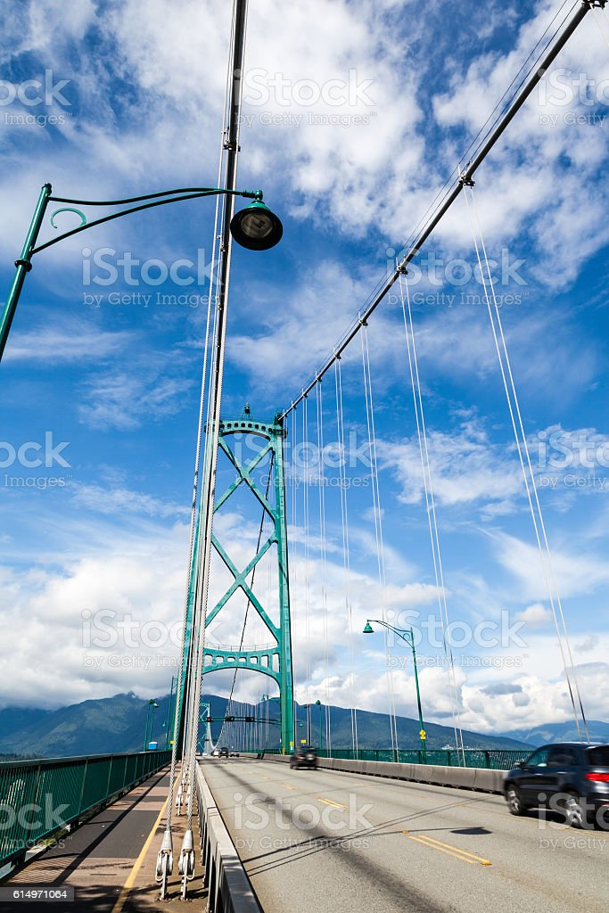 Lions Gate Bridge in Vancouver, BC, Canada stock photo