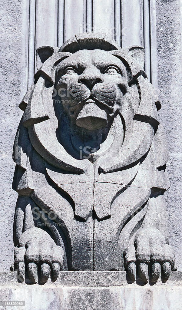 Lions Gate Bridge Lion Statue stock photo