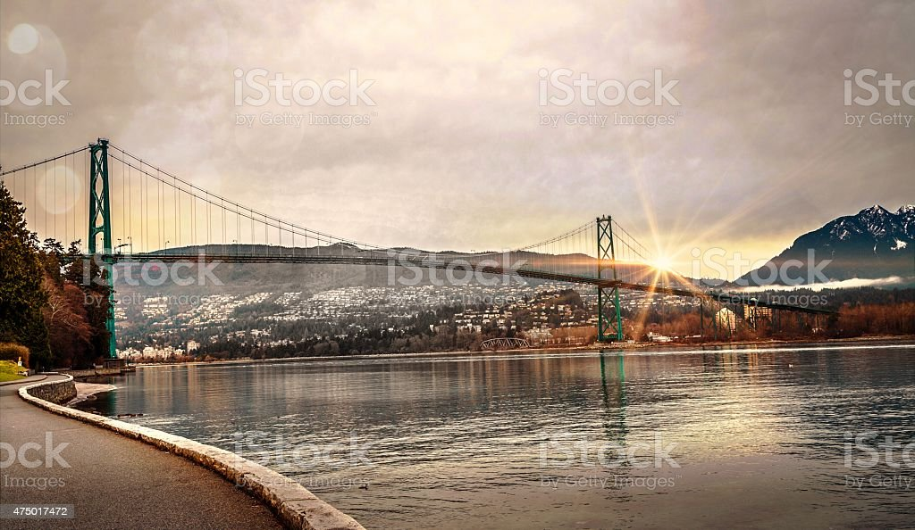Lions Gate Bridge. stock photo