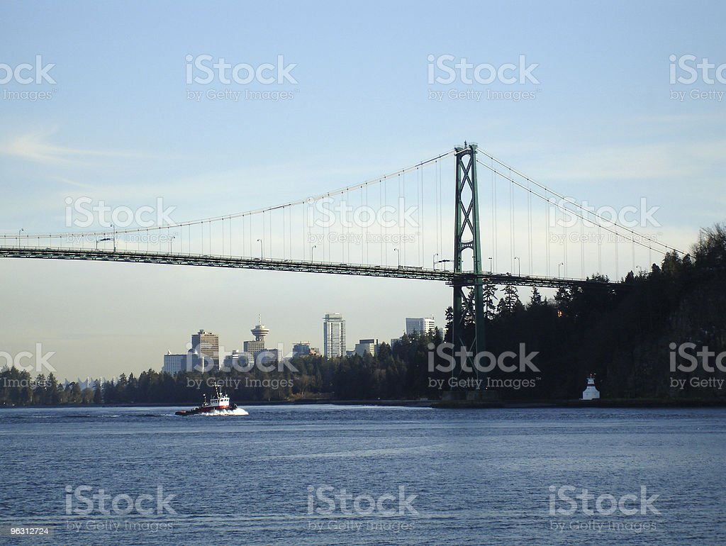 Lion's Gate Tug, Vancouver royalty-free stock photo