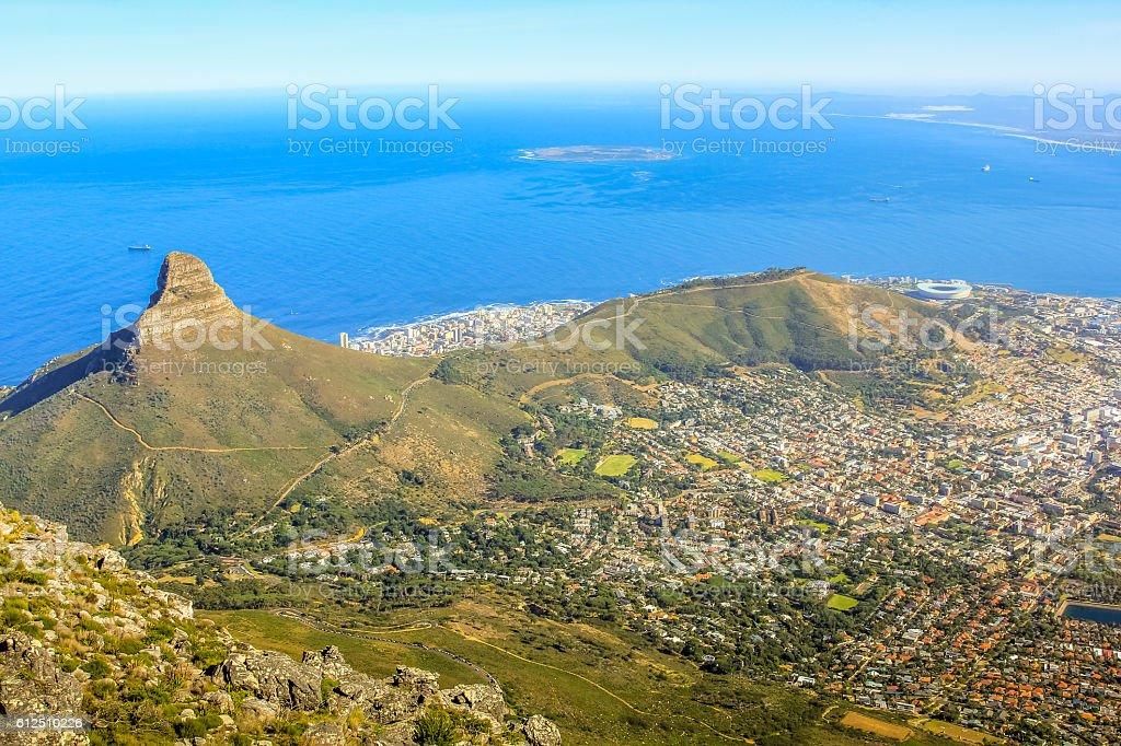 Lion's Head Table Mountain stock photo