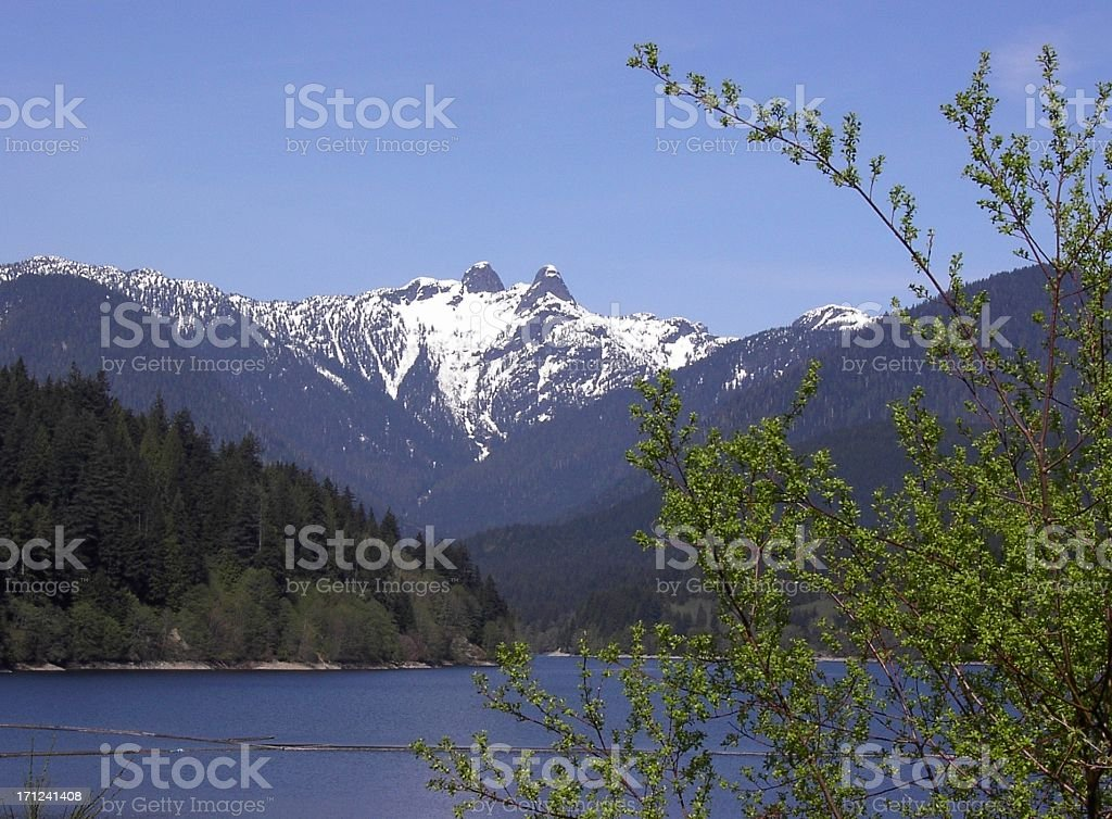 Lions Mountains In Spring royalty-free stock photo