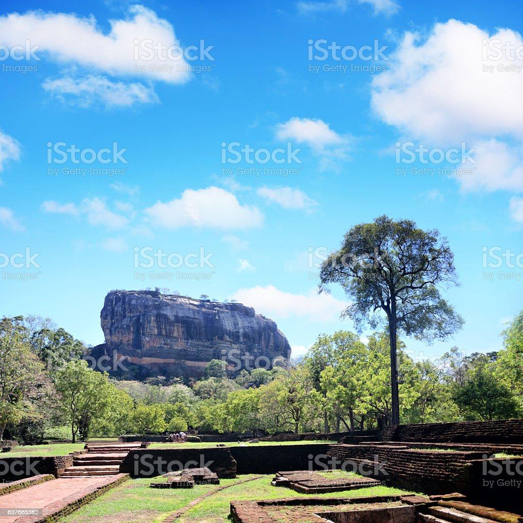 Lion's rock, Sigiriya stock photo