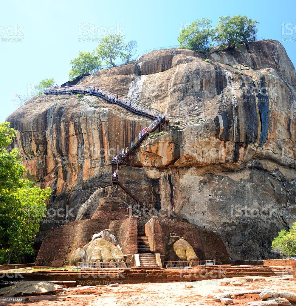 Lion's rock (Sigiriya), Sri Lanka stock photo