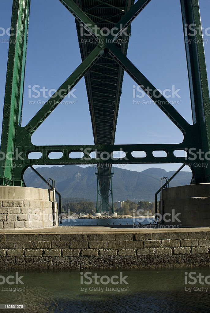 lionsgate - lions Gate bridge Vancouver British Columbia stock photo