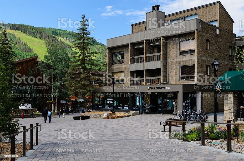 Lionshead Village, Vail, Colorado in Summer stock photo