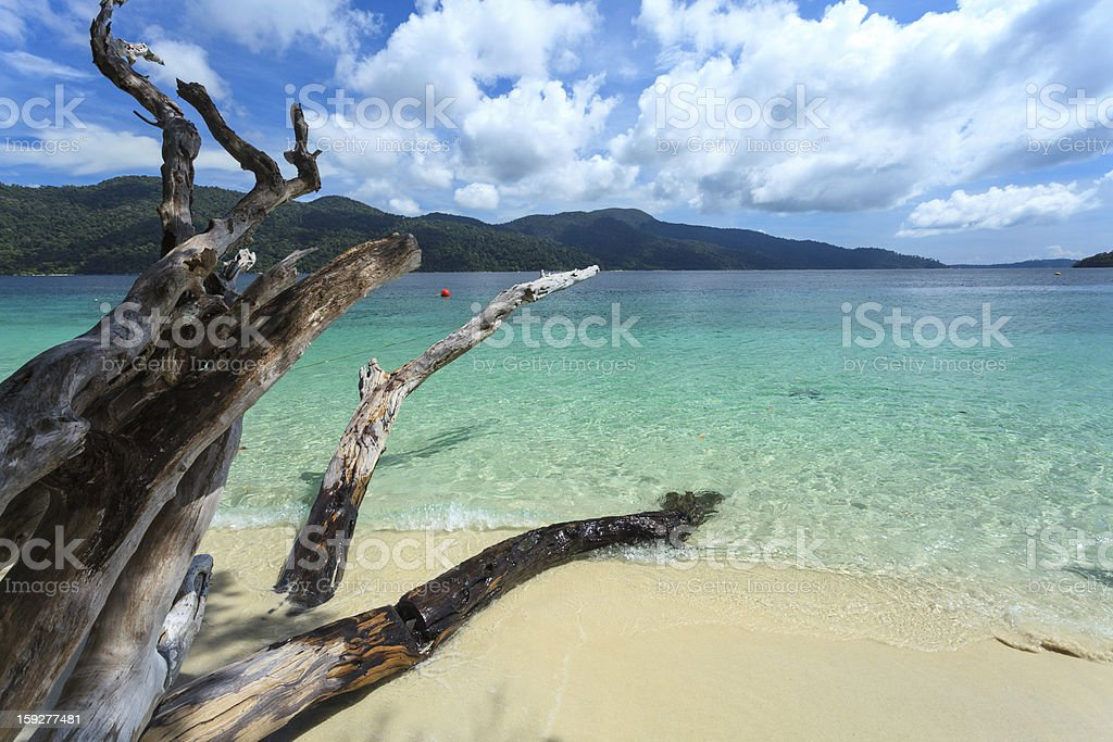 Lipe Island, beautiful beach and sky royalty-free stock photo