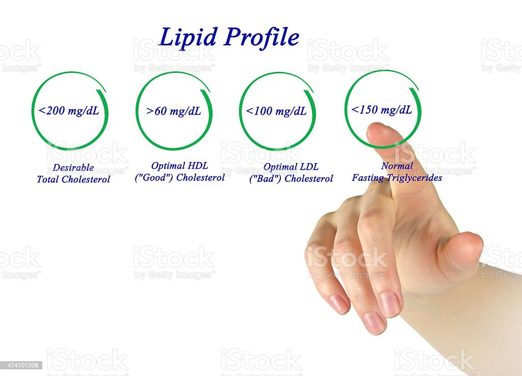 Lipid profile stock photo
