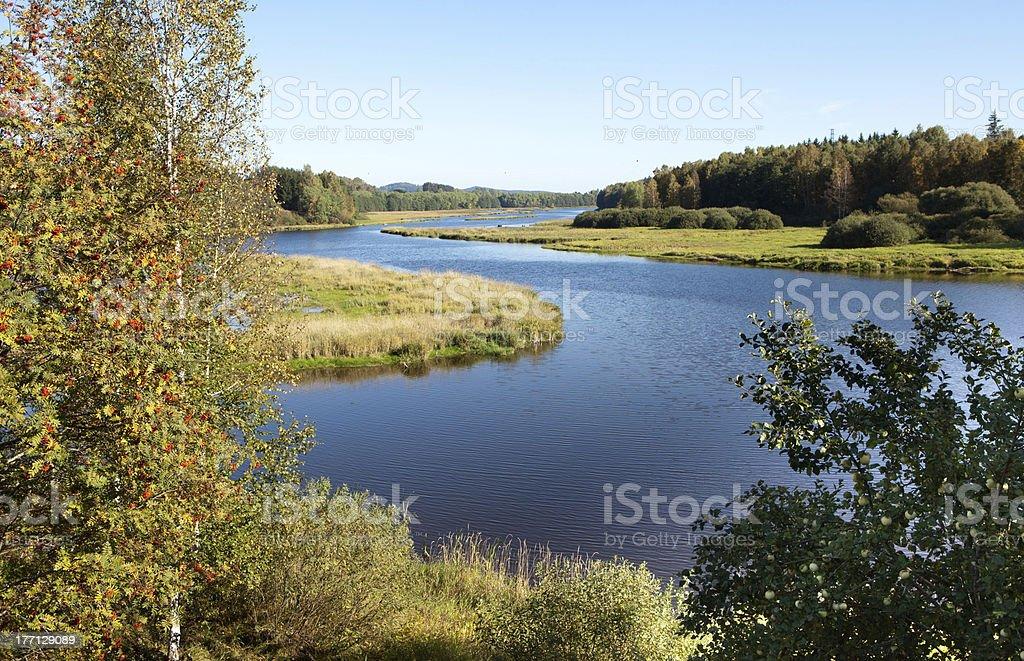 Lipno lake royalty-free stock photo