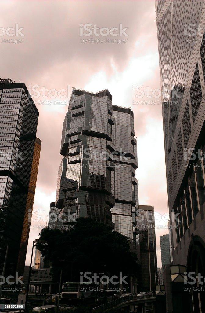 Lippo Center, Hong Kong stock photo