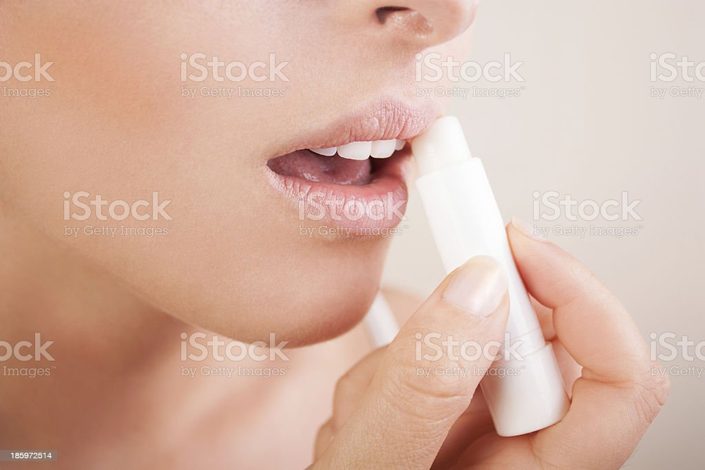 Lips care stock photo