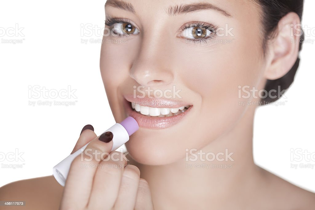 Lips care. stock photo