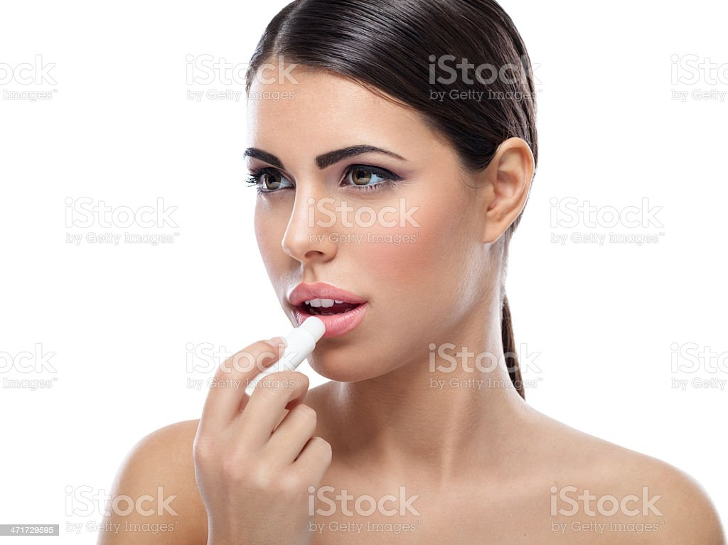 Lips care stock photo