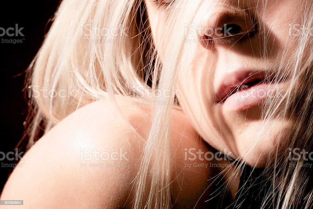 lips in hair royalty-free stock photo