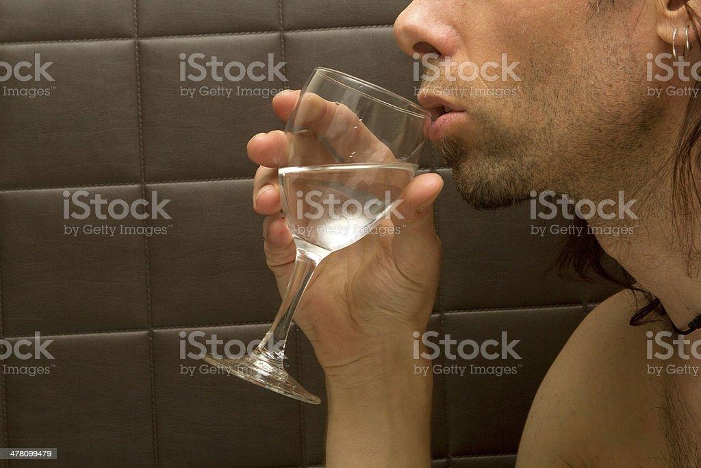 Lips Near Wine royalty-free stock photo