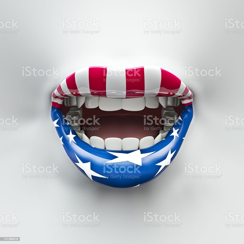 USA lips stock photo