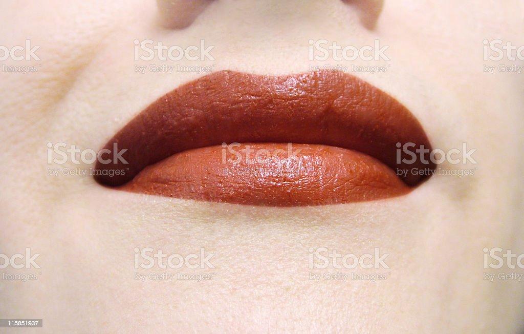 Lips: smiling stock photo
