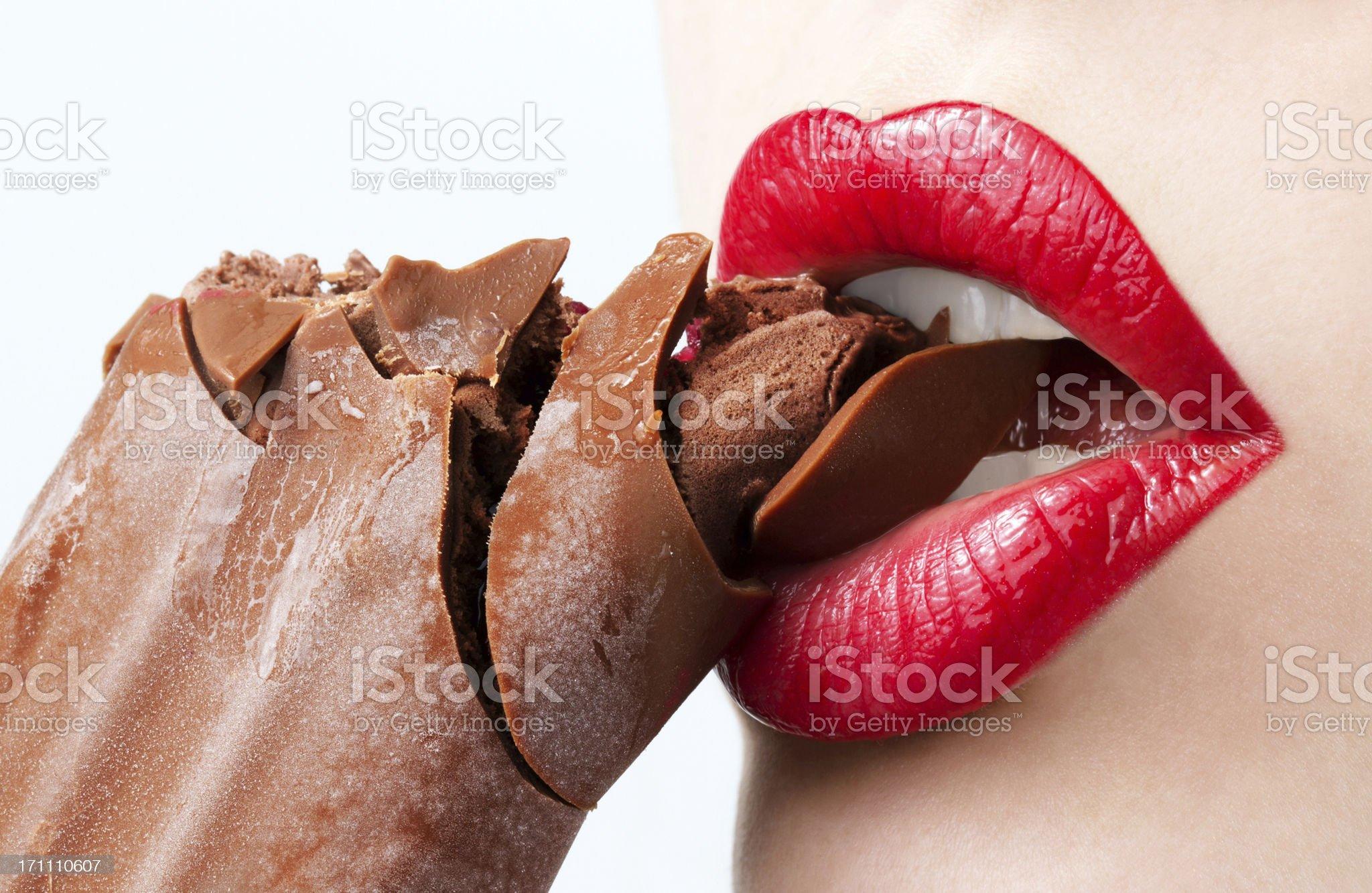 lipstick and chocolate royalty-free stock photo