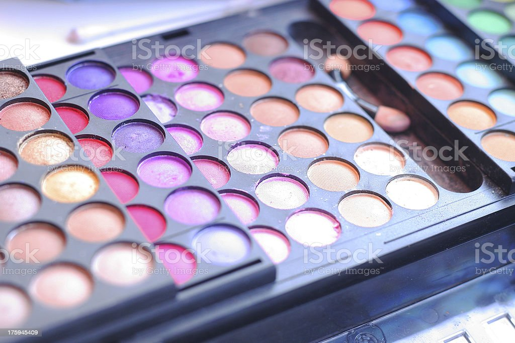 Lipstick and lipgloss makeup palette royalty-free stock photo