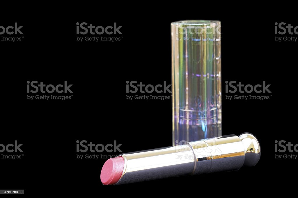 Lipstick closeup on black background royalty-free stock photo