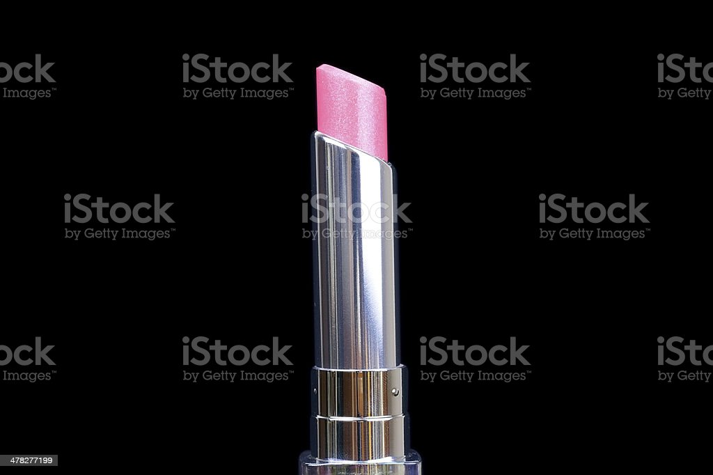 Lipstick closeup on black background royalty-free stock photo