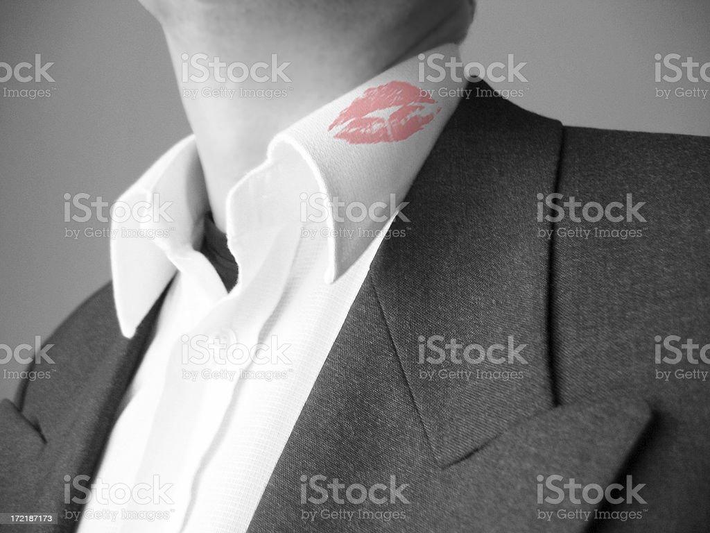 Lipstick collar stock photo