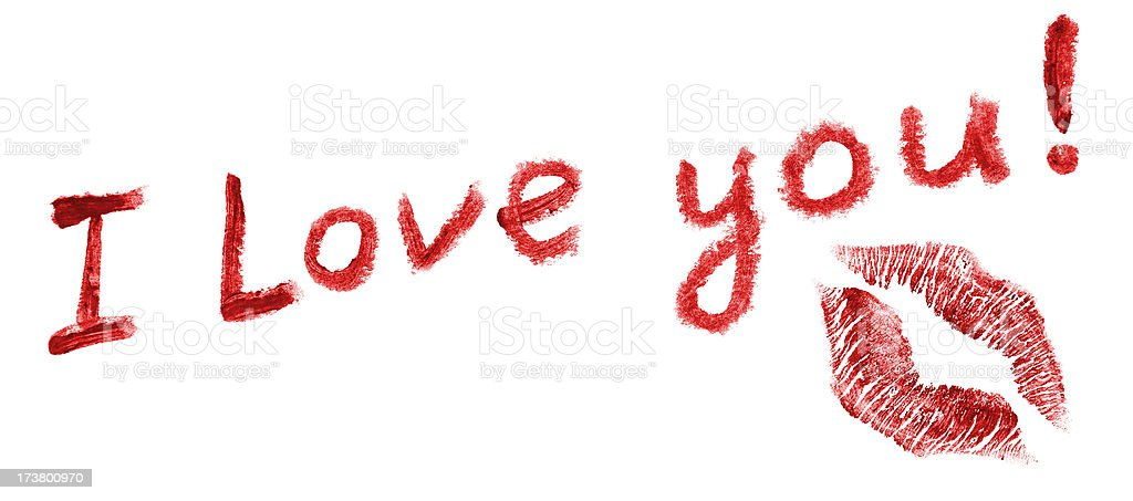 Lipstick love letter royalty-free stock photo