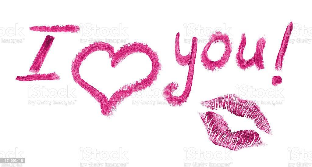 Lipstick love letter royalty-free stock photo