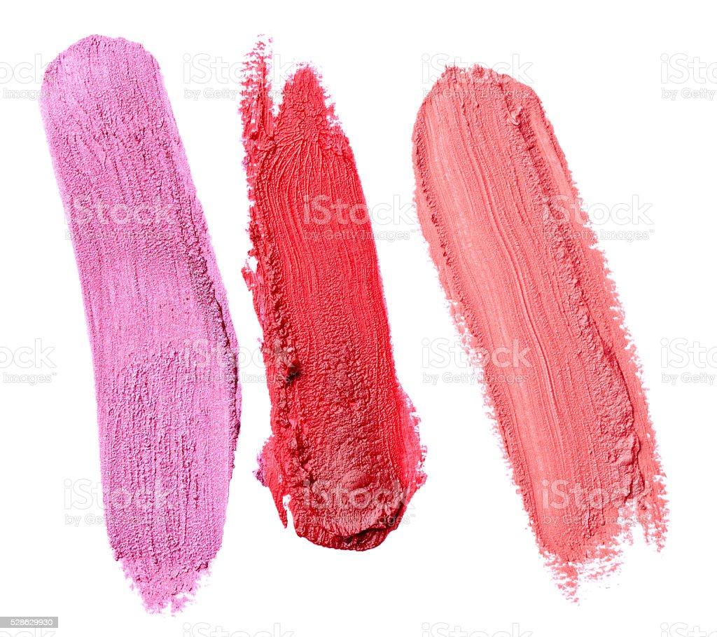 lipstick make up beauty smudged stock photo