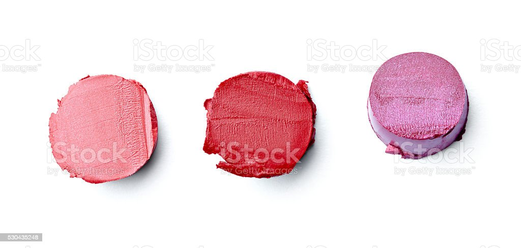 lipstick make up beauty smudged stock photo