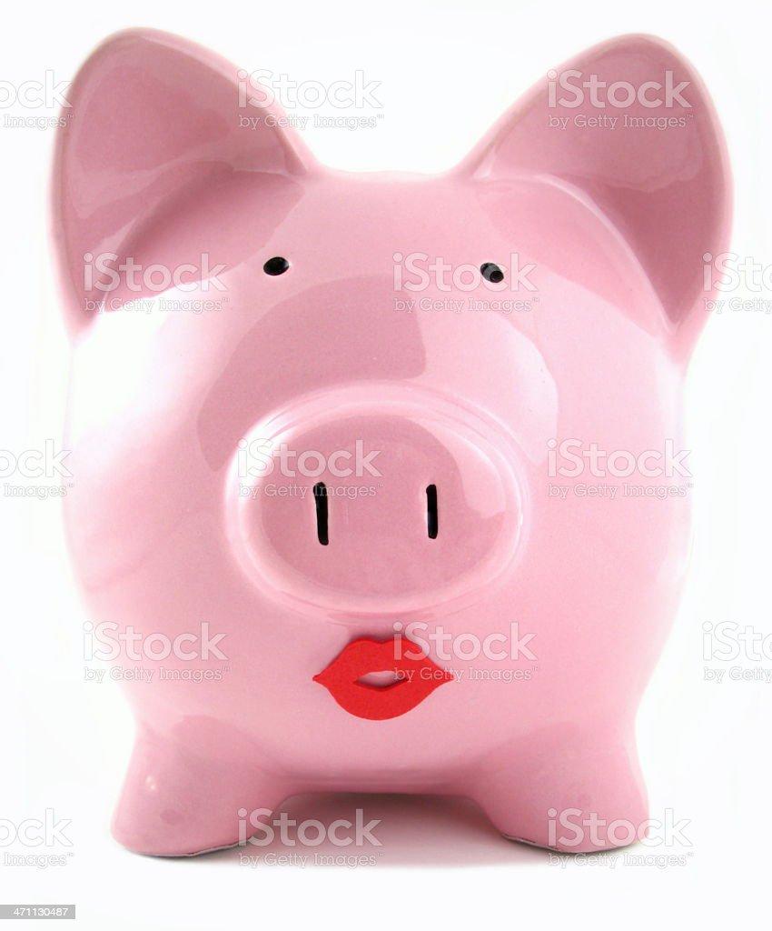 Lipstick on a Piggy royalty-free stock photo