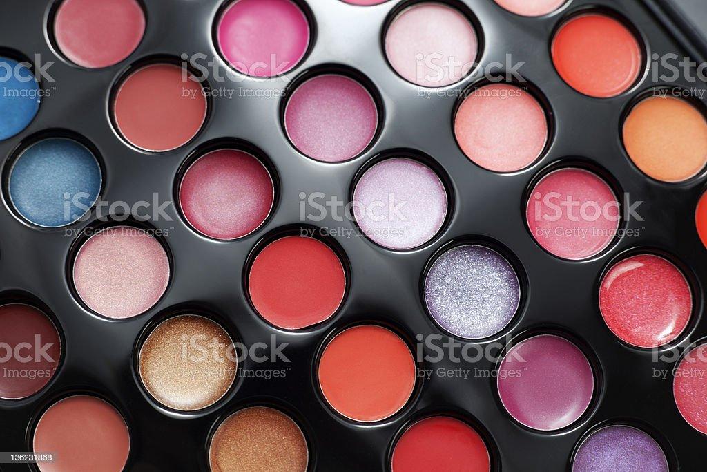 Lipstick palette. royalty-free stock photo