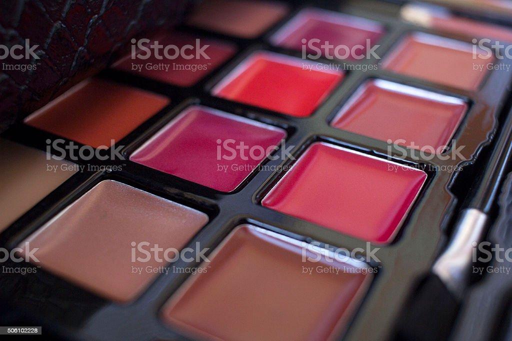 Lipstick Palette (Lip Gloss) stock photo