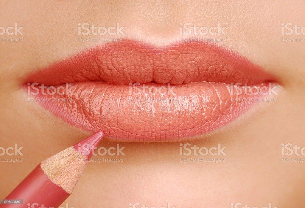 Lipstick pencil stock photo