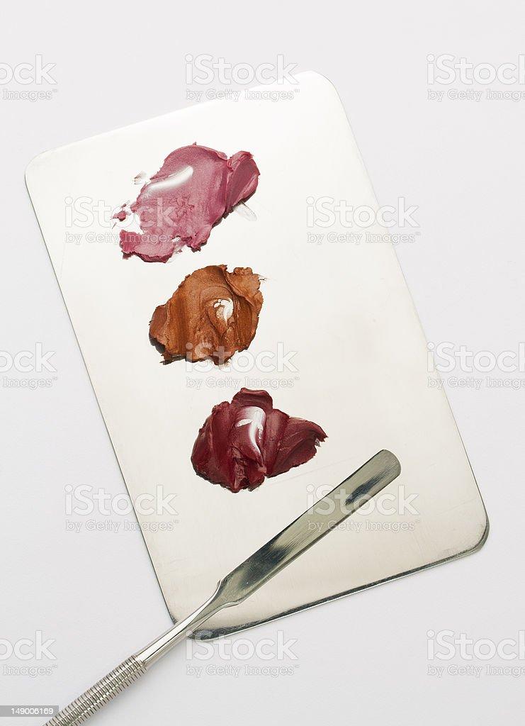 lipstick samples stock photo
