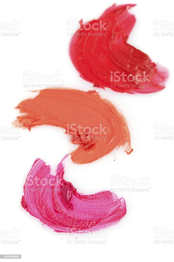 Lipstick samples royalty-free stock photo