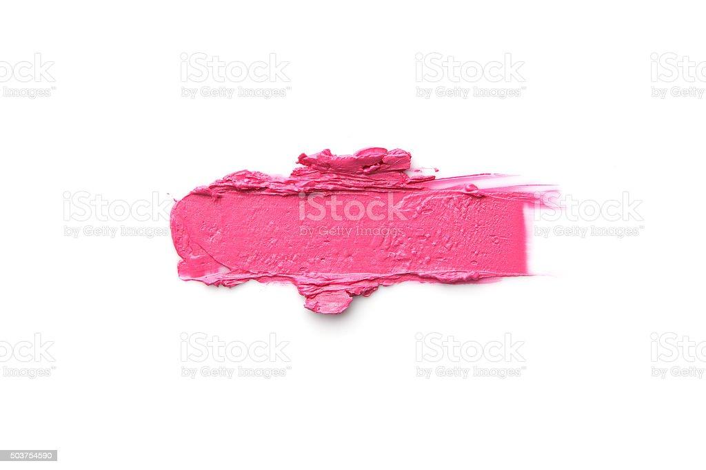 Lipstick Smeared stock photo