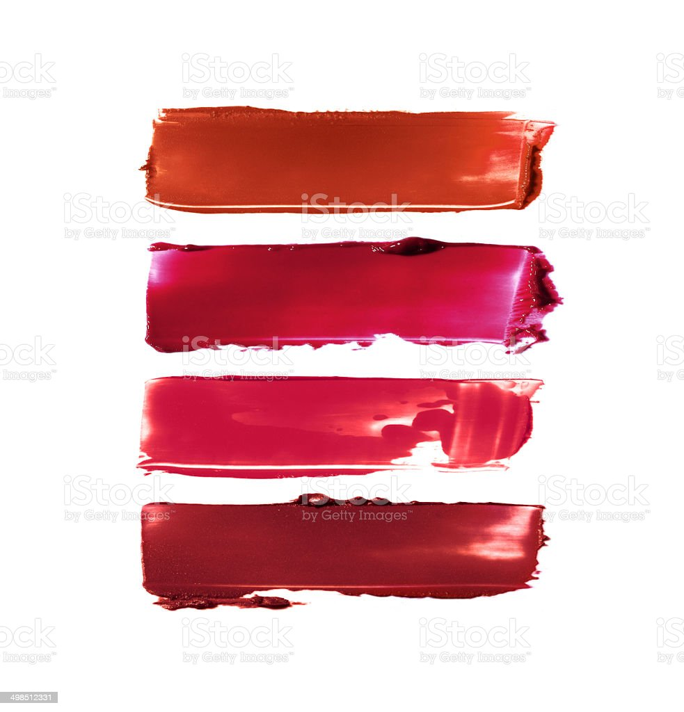 Lipstick smears stock photo