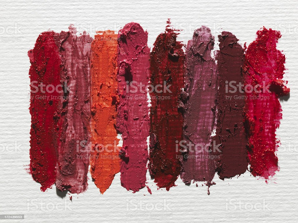 lipstick stains on white paper royalty-free stock photo