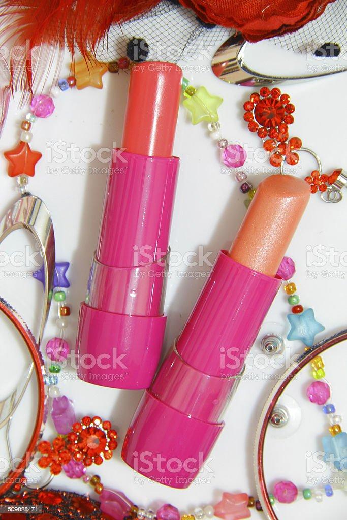 Lipsticks pour un Style de vie coloré photo libre de droits
