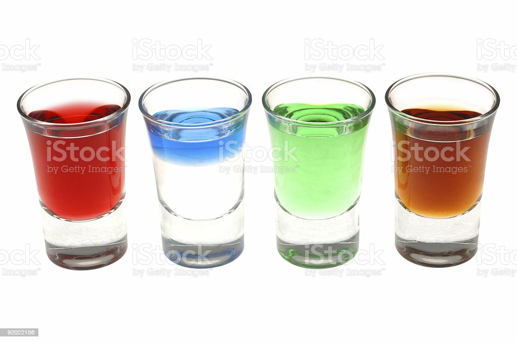 Liqour Shots royalty-free stock photo