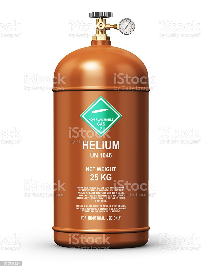 Liquefied helium industrial gas container stock photo