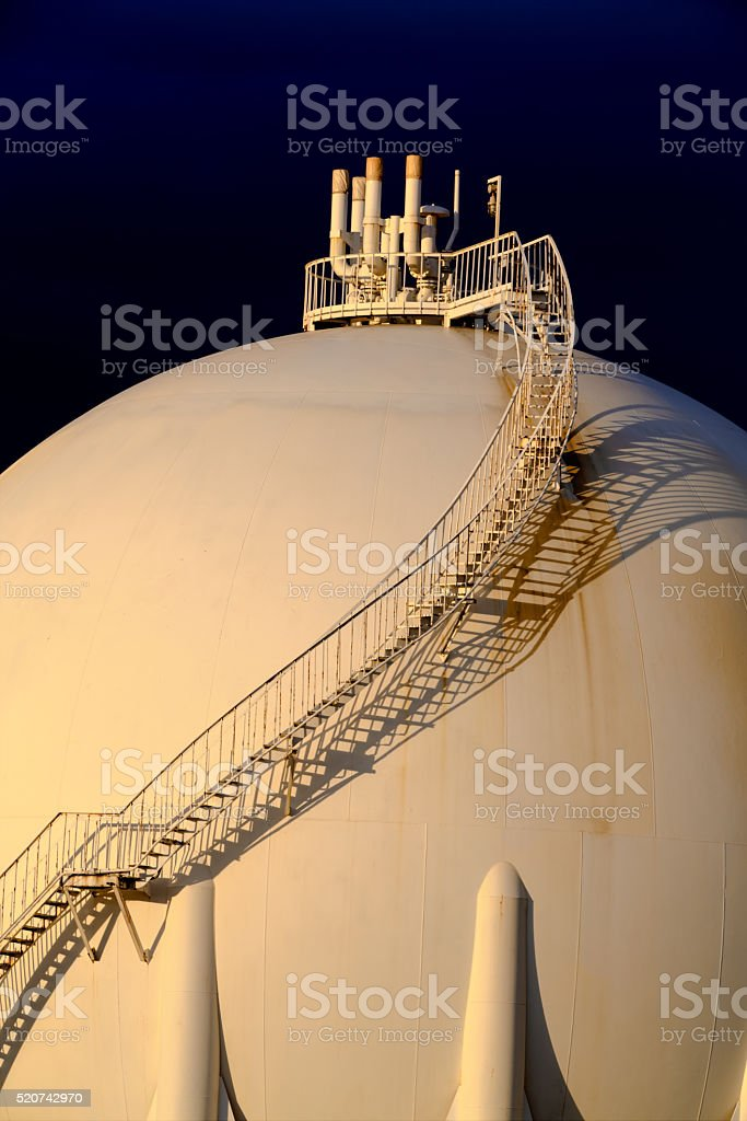 Liquefied Petroleum Gas Storage Tank stock photo