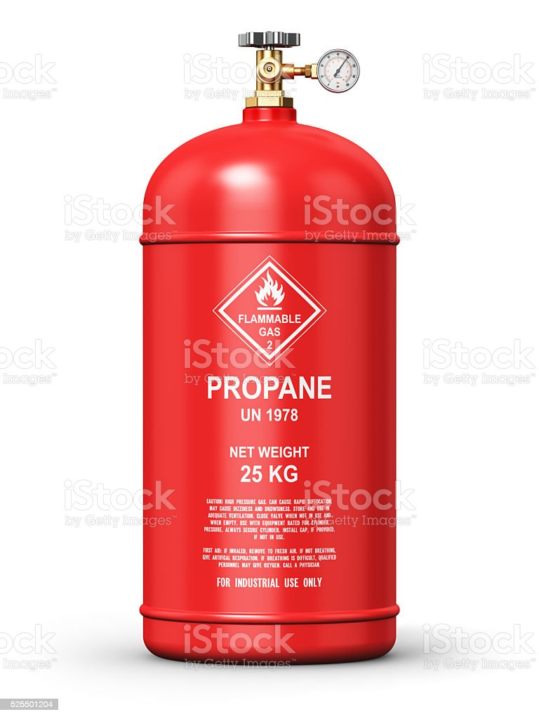 Liquefied propane industrial gas container stock photo