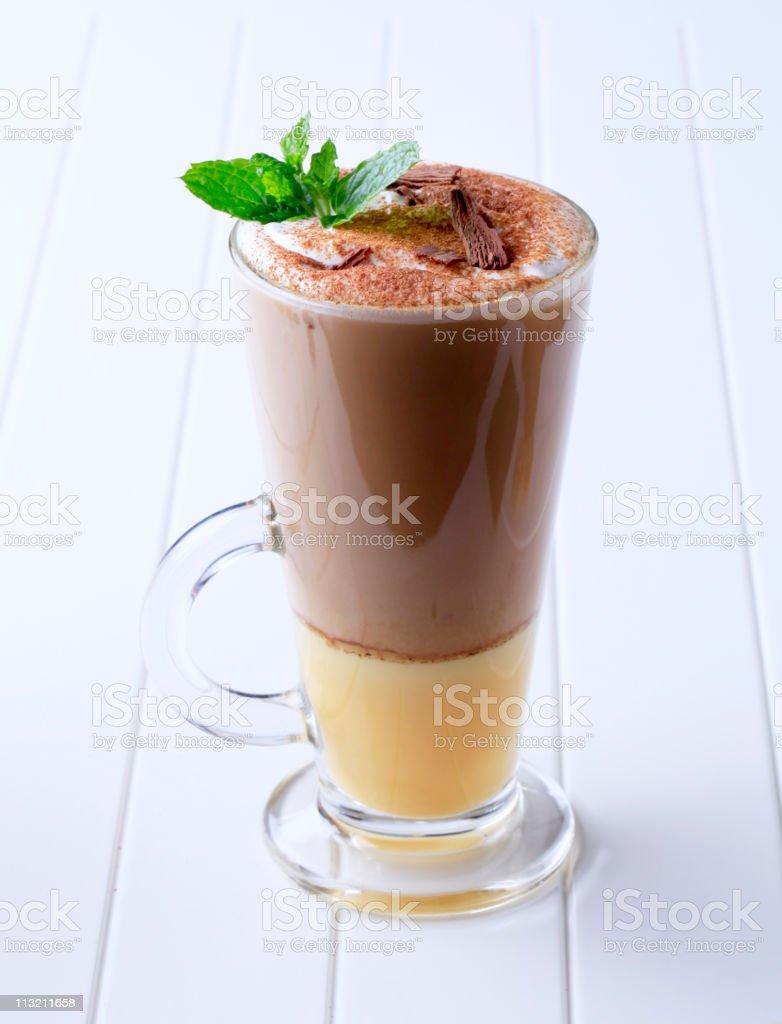Liqueur coffee stock photo